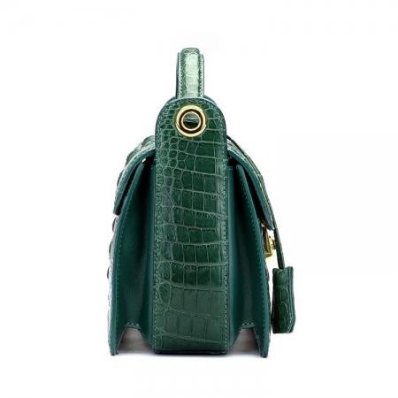 Timeless Crocodile Leather Handbag-Side