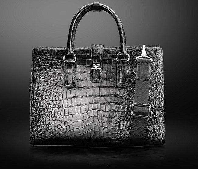 alligator bag, alligator leather bags for men