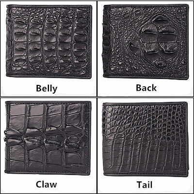 the whole parts of the crocodile skin can be used to make wallets
