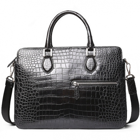 Alligator Briefcase, Alligator Crossbody Laptop Business Bag for Men