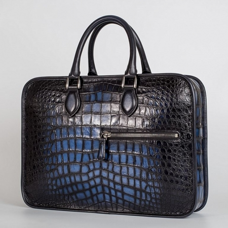 Alligator Briefcase Business Bag for Men-Blue-1