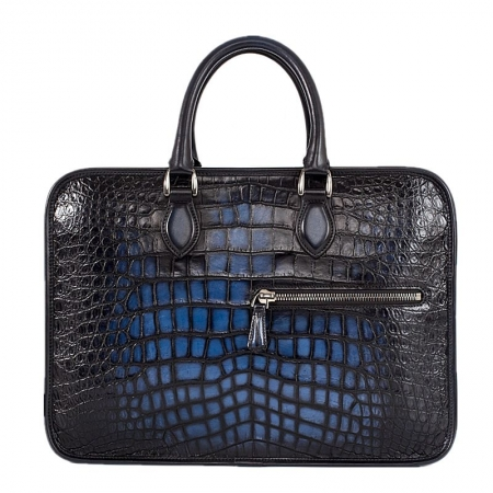 Alligator Briefcase Business Bag for Men-Blue