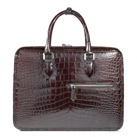 Alligator Briefcase Crossbody Laptop Business Bag for Men