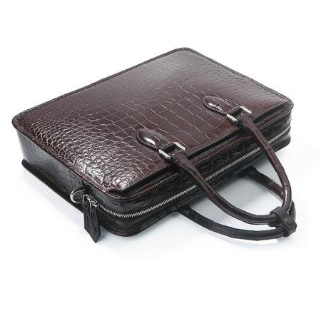 Alligator Briefcase Crossbody Laptop Business Bag for Men-Handle