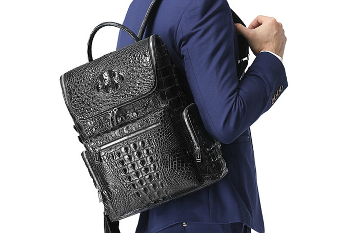 BRUCEGAO's Crocodile Backpack for Men