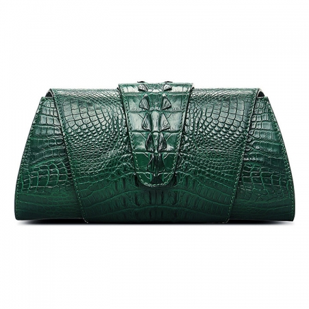 Banquet Crocodile Leather Purse, Evening Crocodile Shoulder Bag