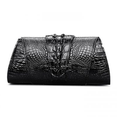 Banquet Crocodile Leather Purse, Evening Crocodile Shoulder Bag, Crossbody Bag