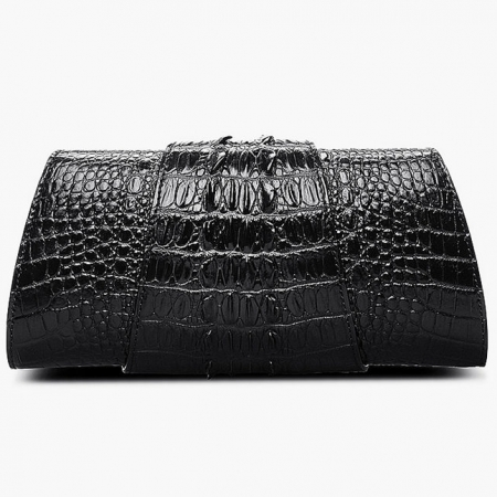 Banquet Crocodile Leather Purse, Evening Crocodile Shoulder Bag, Crossbody Bag-Back