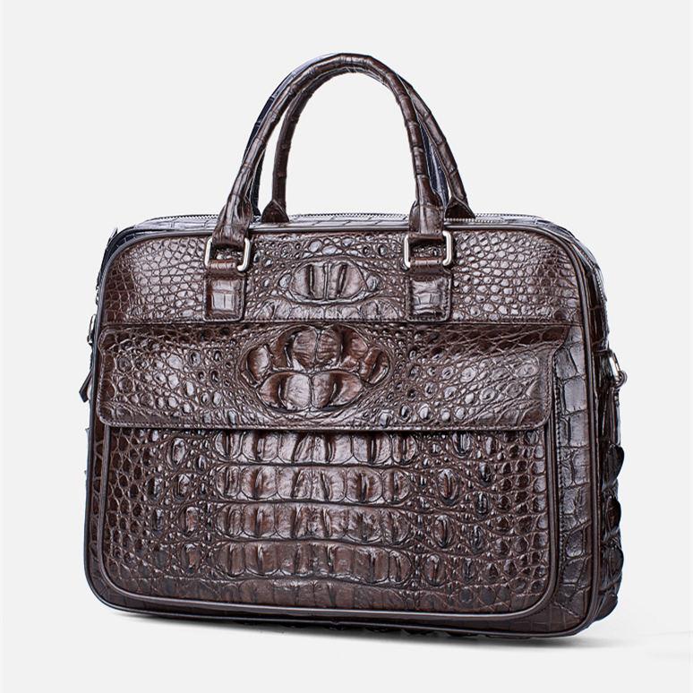 Classic Crocodile Briefcase, Crocodile Shoulder Bag-1