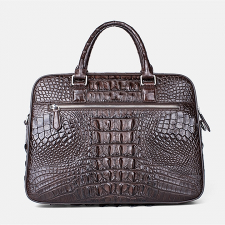 Classic Crocodile Briefcase, Crocodile Shoulder Bag-Back