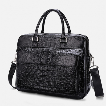 Classic Crocodile Briefcase, Crocodile Shoulder Bag, Crossbody Bag for Men-1