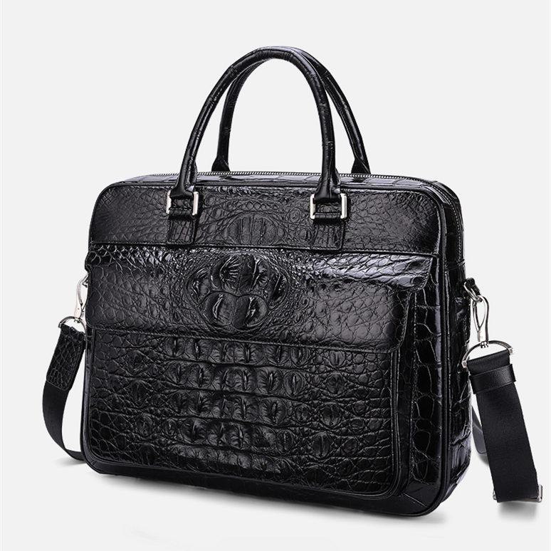 Classic Crocodile Briefcase, Crocodile Shoulder Bag, Crossbody Bag for Men-1