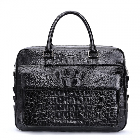 Classic Crocodile Briefcase, Crocodile Shoulder Bag, Crossbody Bag for Men