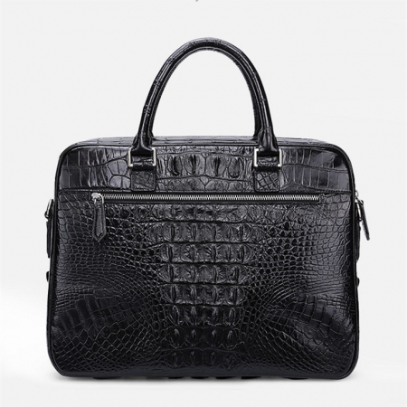 Classic Crocodile Briefcase, Crocodile Shoulder Bag, Crossbody Bag for Men-Back