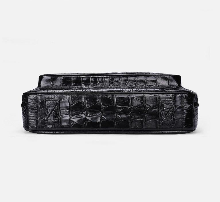 Classic Crocodile Briefcase, Crocodile Shoulder Bag, Crossbody Bag for Men-Bottom