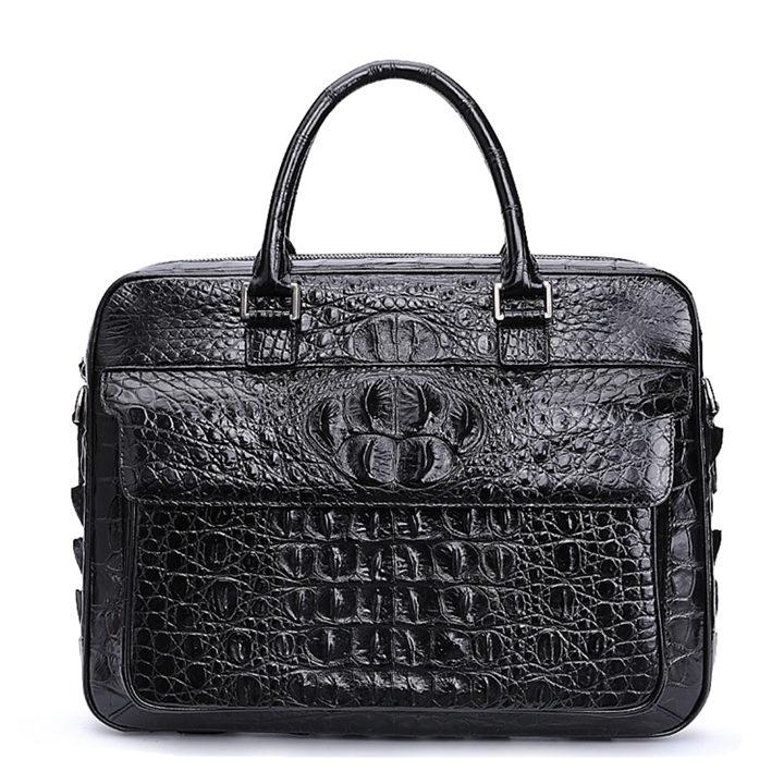 Classic Crocodile Briefcase, Crocodile Shoulder Bag, Crossbody Bag for Men