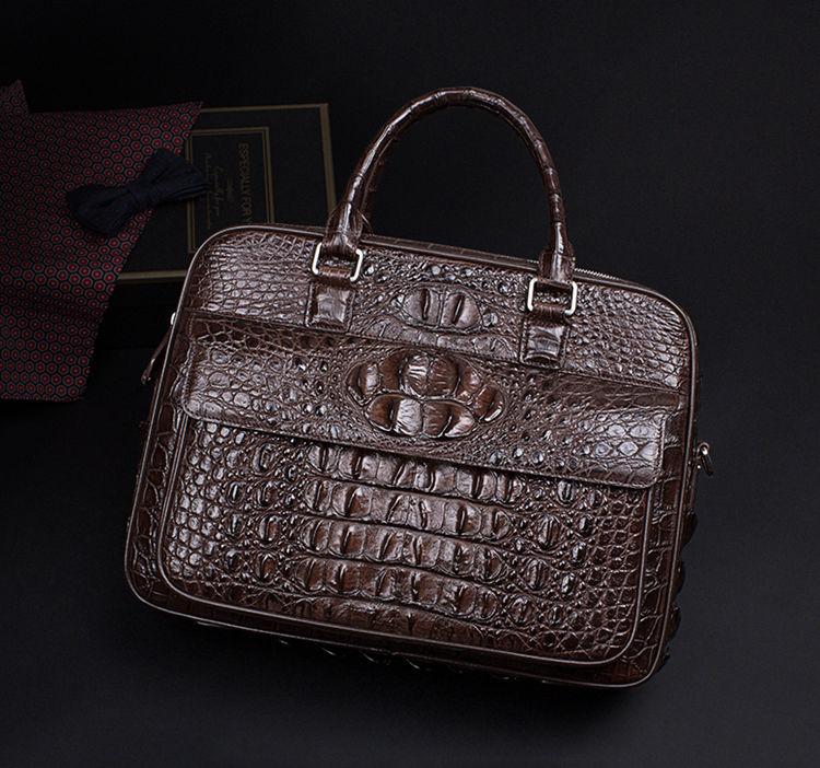 Classic Crocodile Briefcase, Crocodile Shoulder Bag-Exhibition