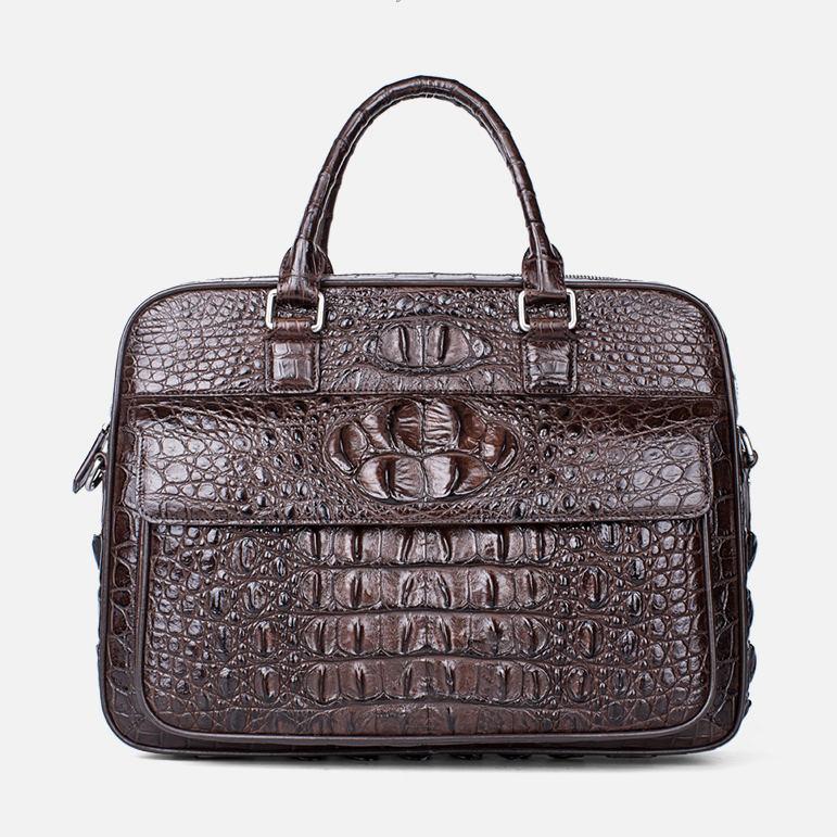 Classic Crocodile Briefcase, Crocodile Shoulder Bag
