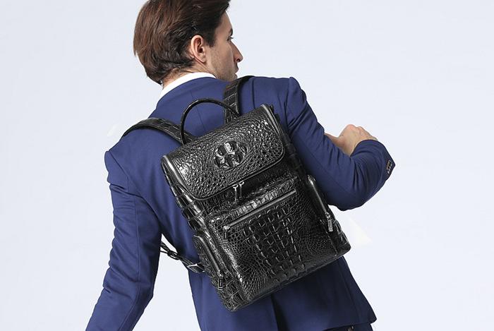 Crocodile Backpack for Men