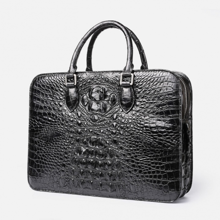 Crocodile Briefcase, Luxury Crocodile Business Bag for Men-1