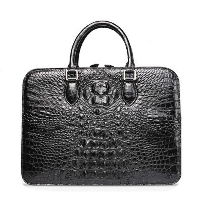 Crocodile Briefcase, Luxury Crocodile Business Bag for Men