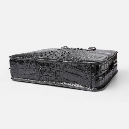 Crocodile Briefcase, Luxury Crocodile Business Bag for Men-Bottom