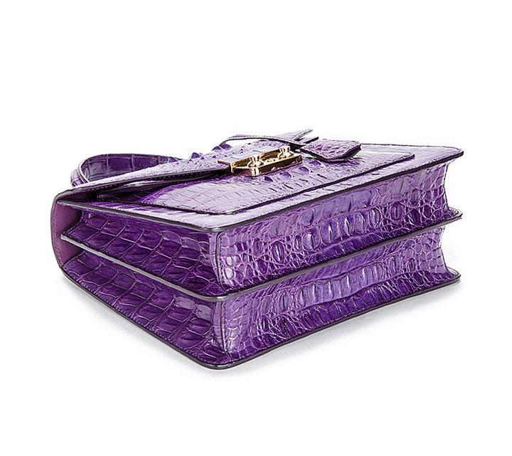 Crocodile Evening Handbag and Clutch Party Wedding Purse-Bottom
