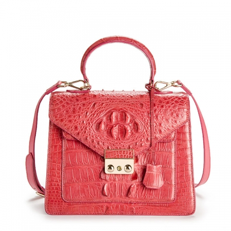 Crocodile Evening Handbag and Clutch Party Wedding Purse-Red