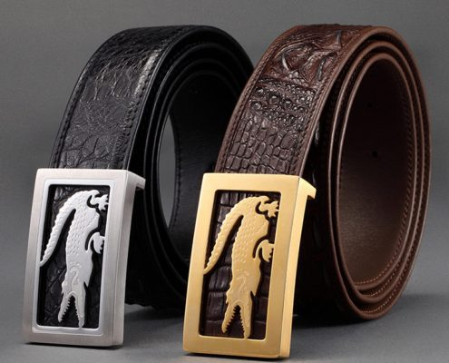 Crocodile Leather Belt-ART.NO 0001 Exhibition