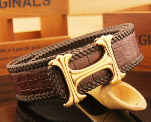 Crocodile Leather Belt Art.No 0013