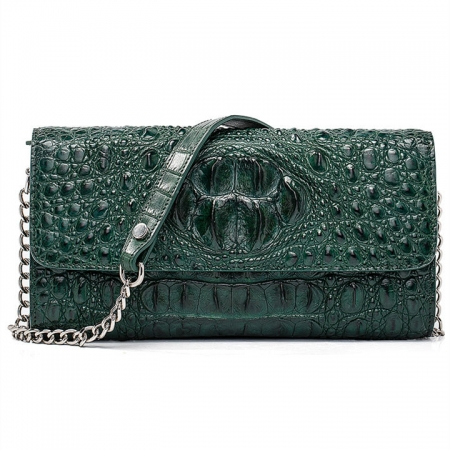 Crocodile Leather Purse, Crocodile Leather Clutch Bag, Crossbody Bag, Shoulder Bag