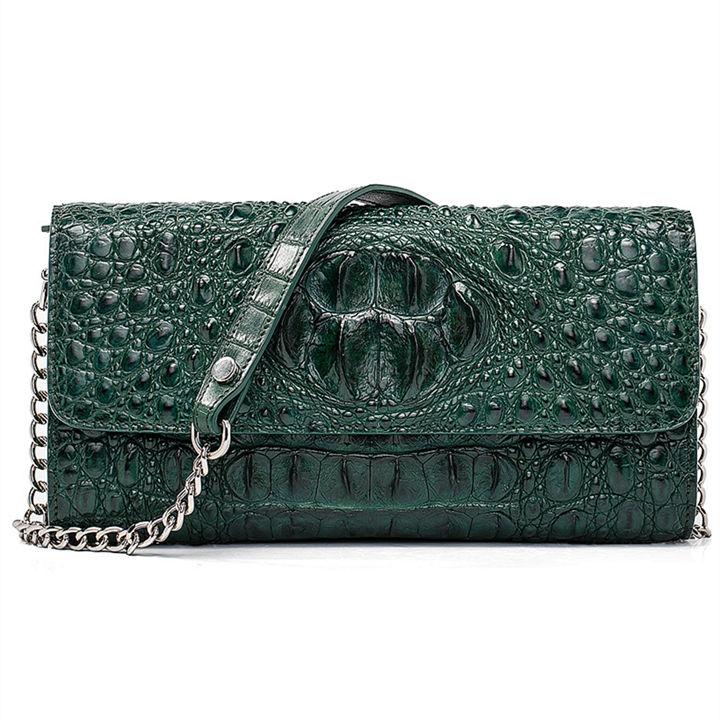 Crocodile Leather Purse, Crocodile Leather Clutch Bag, Crossbody Bag, Shoulder Bag