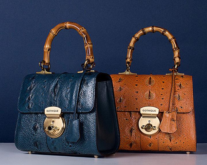 Designer Sturgeon Leather Handbag Crossbody Bag Evening Bag-Exhibition