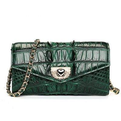 Ladies Crocodile Purse, Evening Crocodile Clutch Bag