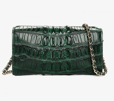Ladies Crocodile Purse, Evening Crocodile Clutch Bag-Back