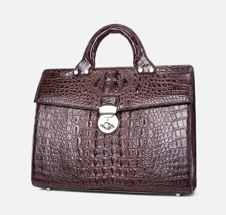 Men's Classic Crocodile Business Briefcase-1