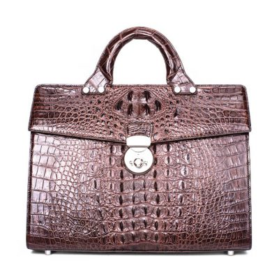 Men's Classic Crocodile Business Briefcase