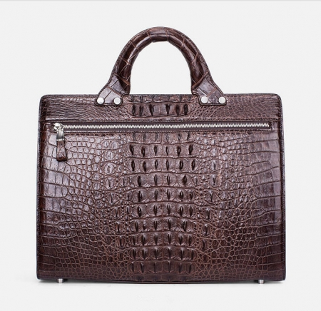 Men's Classic Crocodile Business Briefcase-Back