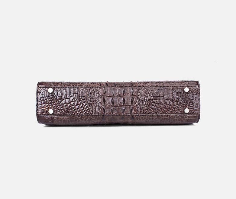 Men's Classic Crocodile Business Briefcase-Bottom
