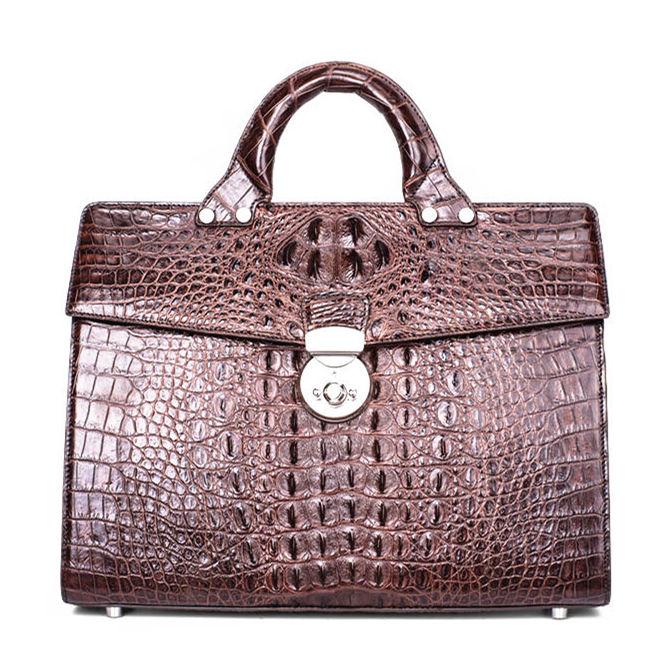 Men's Classic Genuine Crocodile Business Briefcase