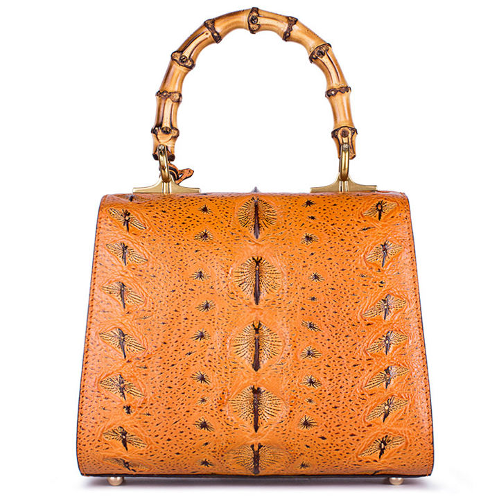 Sturgeon Leather Handbag Crossbody Bag Evening Bag-Back