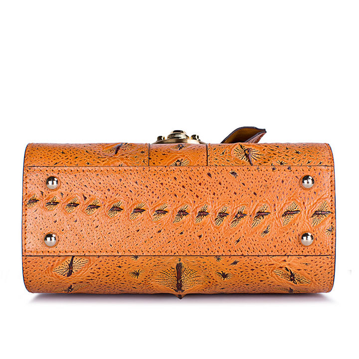 Sturgeon Leather Handbag Crossbody Bag Evening Bag-Bottom