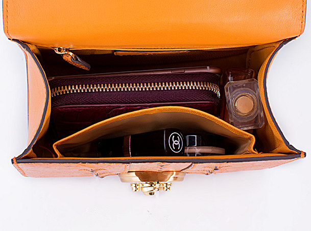 Sturgeon Leather Handbag Crossbody Bag Evening Bag-Inside