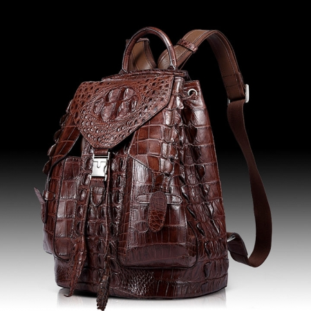 Stylish Crocodile Backpack, Travel Backpack, Shoulder Bag-1