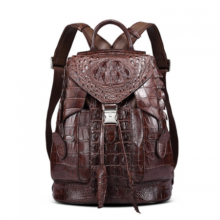 Stylish Crocodile Backpack, Travel Backpack, Shoulder Bag