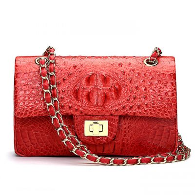 Stylish Evening Crocodile Purse, Crocodile Shoulder Bag