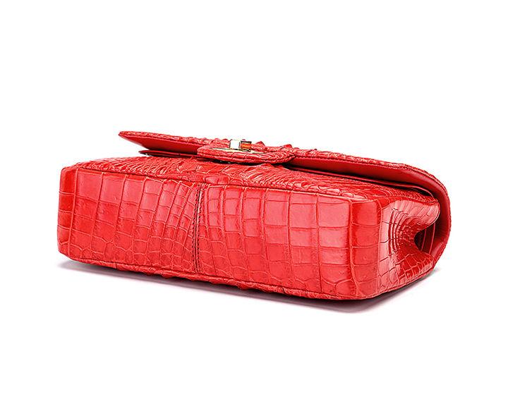 Stylish Evening Crocodile Purse, Crocodile Shoulder Bag-Bottom