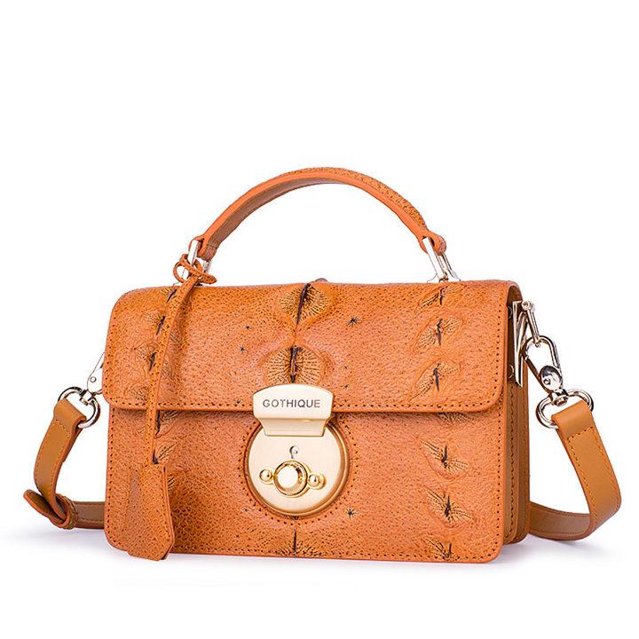 Stylish Sturgeon Leather Handbag, Shoulder Bag, Crossbody Bag Purse-1