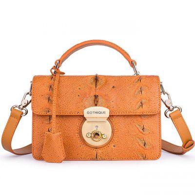 Stylish Sturgeon Leather Handbag, Shoulder Bag, Crossbody Bag Purse