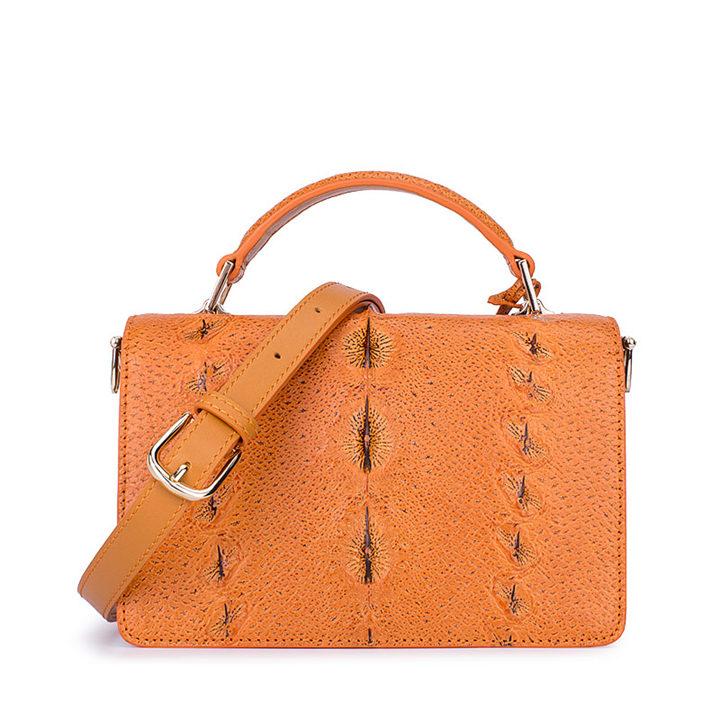 Stylish Sturgeon Leather Handbag, Shoulder Bag, Crossbody Bag Purse-Back